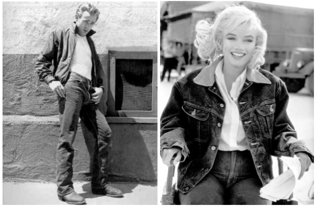 James Dean and Marilyn Monroe Jeans